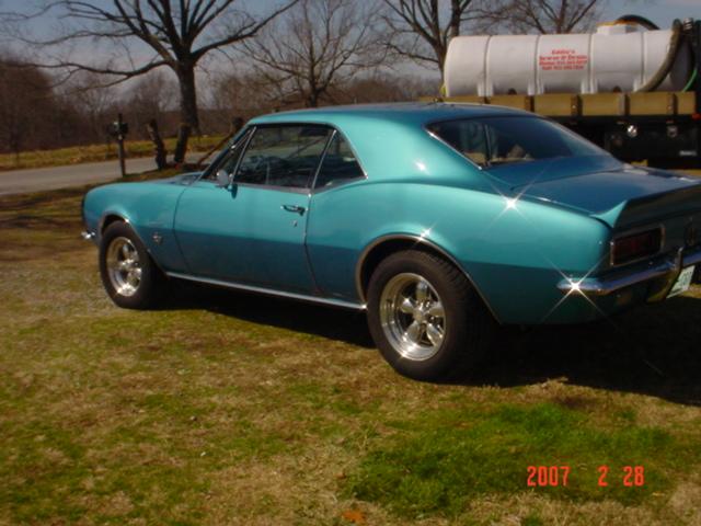 blue 1967 camaro